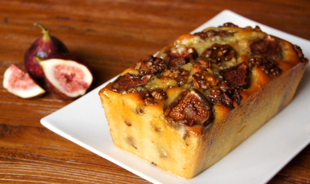 Walnut and Fig Cake with Brandy Syrup