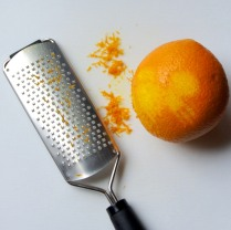Finely grate the orange