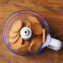 Process biscuits until fine