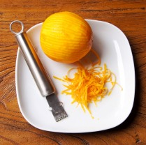 Shred the oranges