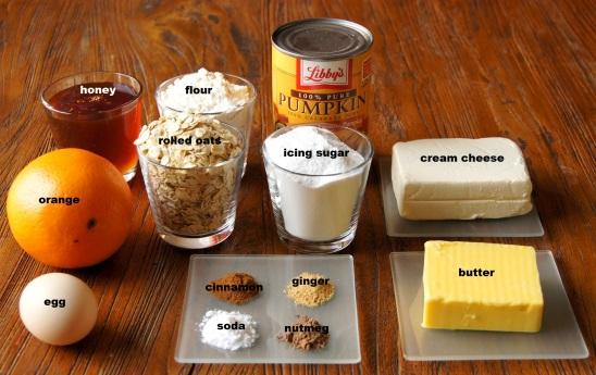Ingredients: Orange and Spice Pumpkin Cake