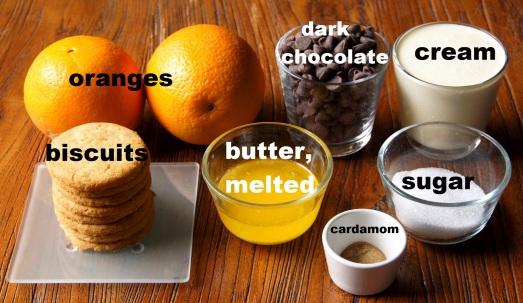 Ingredients: Cardamom Orange Chocolate Mousse Cakes