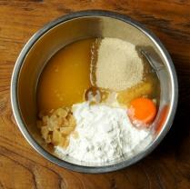 Ginger+flour+sugar+butter+egg