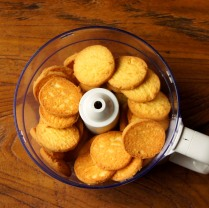 Biscuits in food processor