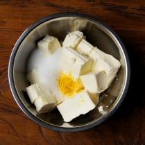 Cream cheese+zest+sugar
