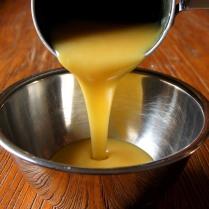 Pour into a bowl, cool