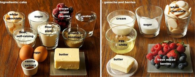 Ingredients: Mixed Berry, Hazelnut and White Chocolate Mud Cake
