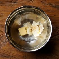 Butter+cream cheese+vanilla+salt