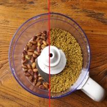 Process pistachios til grounded