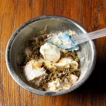 Add yogurt and mix well