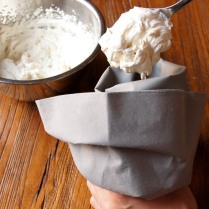 Fill the piping bag