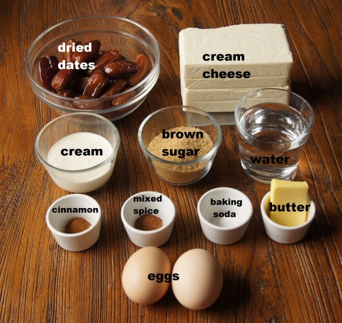 Ingrediens: Sticky Date Cheesecake