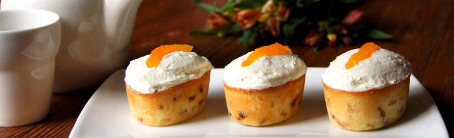 Apricot Friands with Orange MascarponeFrosting