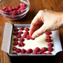 Scatter with raspberries