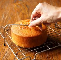 Split cake into 3 layers