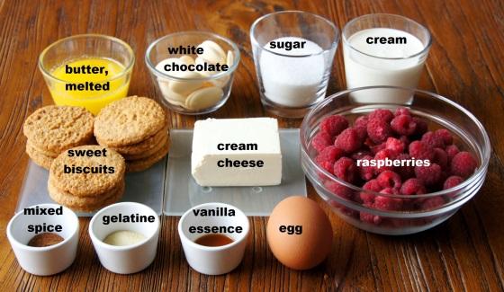Ingredients: White Chocolate Raspberry Cheesecake Slice