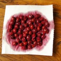 Drain cherries