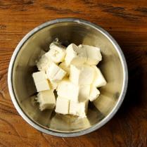 Cream cheese in a bowl