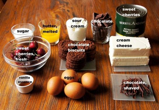 Ingredients: Black Forest Cheesecake