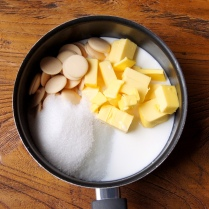 Butter+choc+sugar+milk