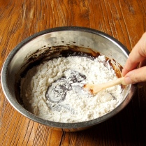 Stir in the flour