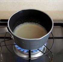 Bring cream to a boil