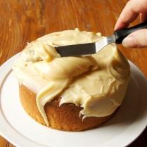 Spread ganache over cake