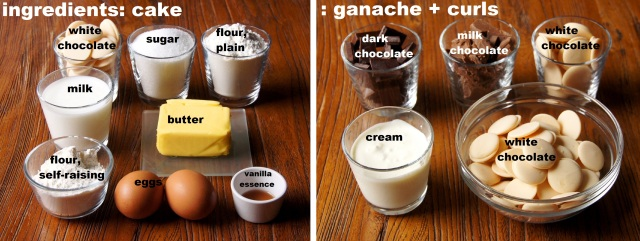 Ingredients: White Chocolate Mud Cake
