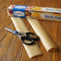 Cut strips of baking paper