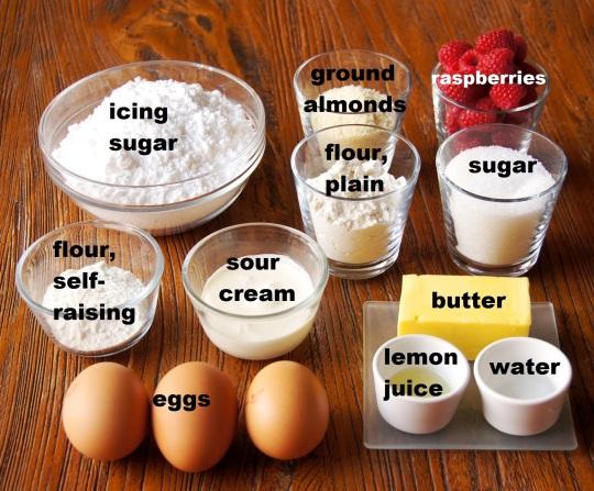 Ingredients: Raspberry Almond Petit Fours