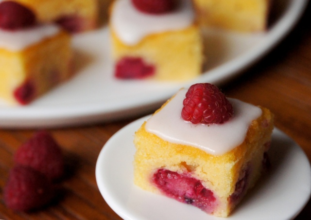 Raspberry Almond Petit Fours