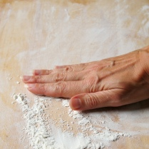 Flour the surface