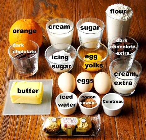 Ingredients: Chocolate Jaffa Tart